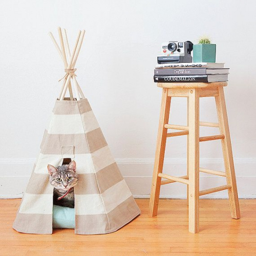 les tipis pour chats les coulisses de la r daction. Black Bedroom Furniture Sets. Home Design Ideas